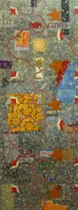 Ma Jolie (2011) Collage, acrylic & oil on mdf. 142 x 53.5 cm (56 x 21in)